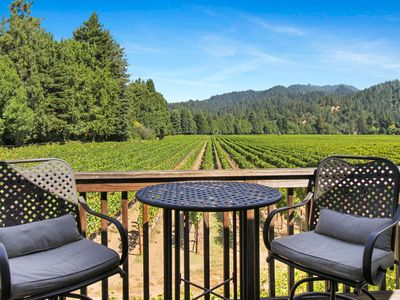 Photo for NEW LISTING! Vineyard view studio cottage by river, near town & winetasting