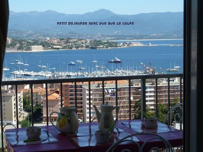 Photo for Apartment with breathtaking views of gulf and city of ajaccio