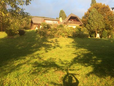 Photo for Beautiful house near lake, with panoramic view of Alps, set in large garden.