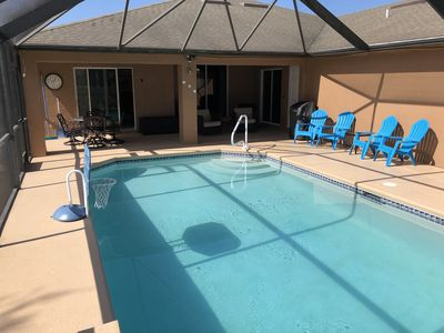 Photo for Gorgeous 4bd/2bth HEATED Salt-water POOL home-Cape Coral, FL-LOCATION, LOCATION!