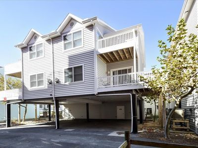 Photo for Spacious, fun 4 bedroom townhouse great for large families with free WiFi and adorable coastal decor located midtown on the ocean block just a few steps to the beach!