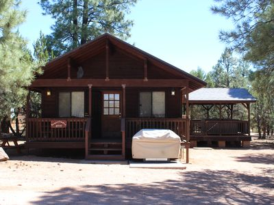 Photo for Mogollon Resort Cabins  2 Bed-1 Bath  Private Jacuzzi Full kitchen & Fireplace