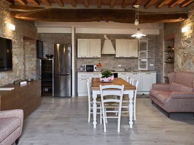 Photo for Apartment in a restored farmhouse in a typical Tuscan Chianti village