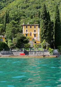 View of the villa from the water