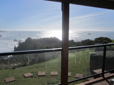 View from Dinning Room through sliding glass door.