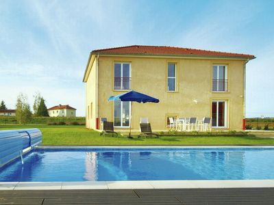 Photo for Modern holiday home with swimming pool, sauna and magnificent panorama near Verdun