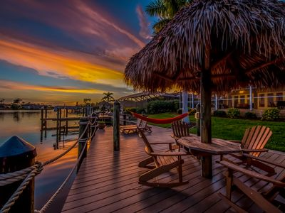 Photo for Heated Pool,Beautiful Sunsets, Fishing Dock- Villa Thunderbird View - Cape Coral