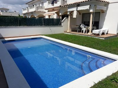 Photo for House with private pool next to the beach in L'Escala, wifi  included