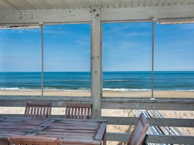 Photo for Beach Happy Too: Oceanfront, four bedroom, hot tub and private walkway to the beach!