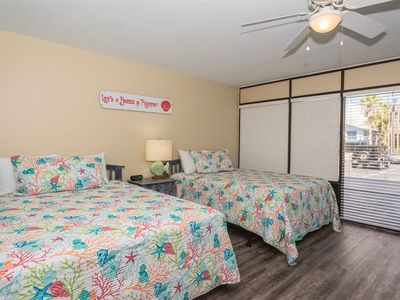 Photo for 5 Star Studio Condo with water views!  Walk to pool, hot tub, and 1000 ft fishing pier!