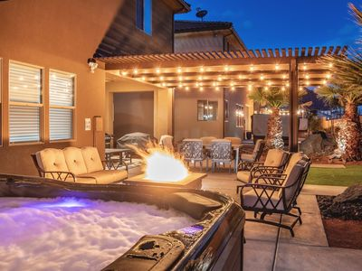 Photo for 96 | LUXURY COUPLE`S GETAWAY! PRIVATE HOT TUB, PING PONG, PACK N` PLAY, AND MORE!