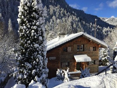 Photo for Idyllic chalet with hot tub, close to the village - Autumn short breaks