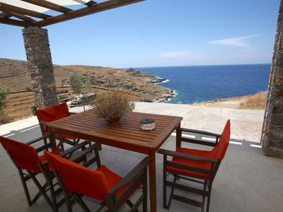 Photo for Π (Pi) Beach Apprtmt, luxury, comfort, modern, tranquil, sea views, private beach