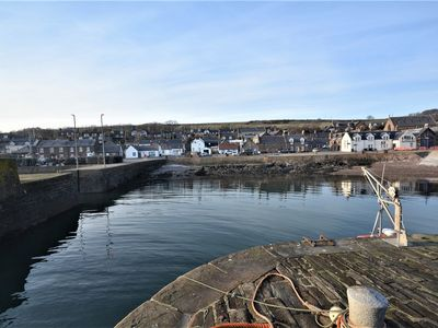 View across the harbour to the cottage