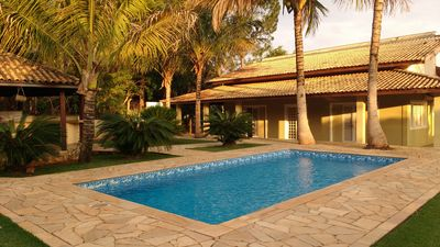 Photo for Chácara / sítio, 5 bedrooms, sleeps 20 people, Barbecue, Swimming pool and 120 person
