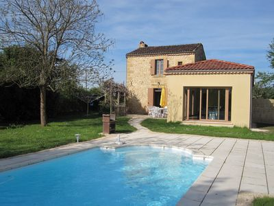 Photo for Near Sarlat Holiday Rental, Delightful River-side Cottage, Private Pool, Wifi