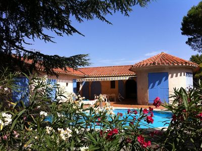 Photo for Large villa with private heated pool and park