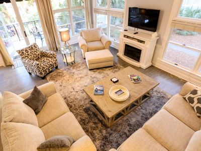 Photo for Fully Renovated, Luxury Home 2 minutes to Beach & Grand Pavilion Pool Access! Largest Boardwalk Home