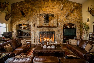 Fireplace view in Main Room