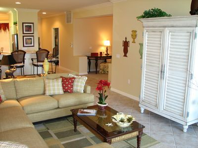 Alternate view of family room, open to kitchen
