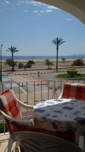 Photo for Clean and well maintained apartment on the beach of Empúriabrava, family atmosphere