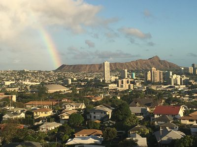 Photo for Spectacular Panoramic view of Diamond Head and all of Waikiki!