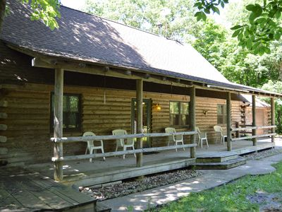 Photo for Log cabin on 25 acres