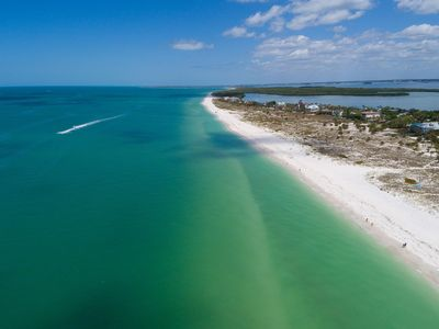Aerial view of Clearwater Beach.