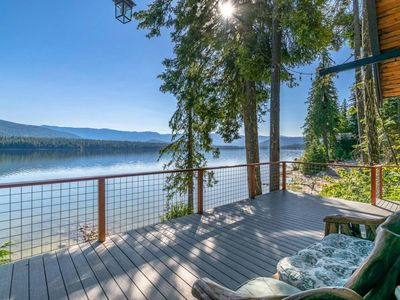 Photo for Waterfront Cabin with hot tub, private beach and dock!