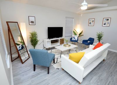 Cozy Living Room with Sofabed