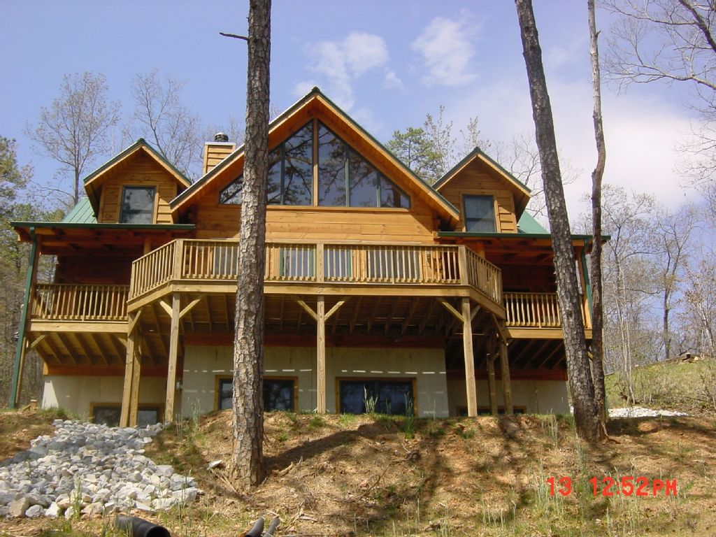 Gorgeous luxury log cabin asheville homeaway old fort for Asheville nc luxury cabin rentals