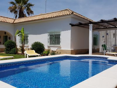 Photo for Country villa with private pool in Roche Viejo, sleeps 6