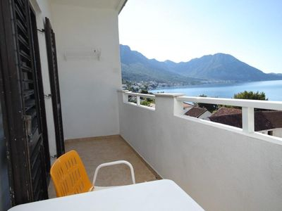 Photo for One bedroom apartment with balcony and sea view Podaca, Makarska (A-6735-b)