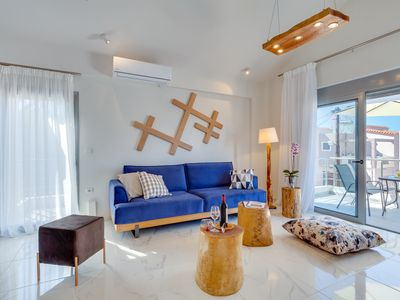 Photo for Ikia Aretousa: Chic design,modern, new built, near sandy beaches, great location