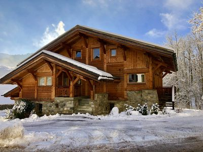 Photo for Entire cottage in Megève near downtown.