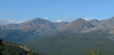 Gorgeous views of the Ten Mile Range from our home!