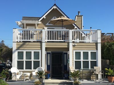 Photo for Beautiful, Clean, Seabright Home Steps to Beach entrance, High end HOT TUB