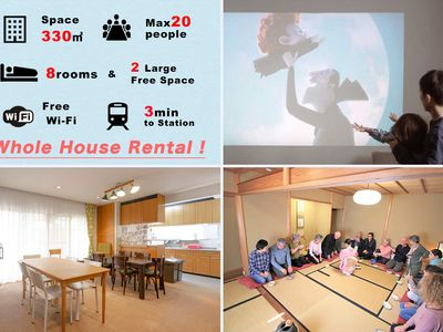 Photo for 【330㎡】 8 rooms & Free space & WiFi  YOUR STYLE