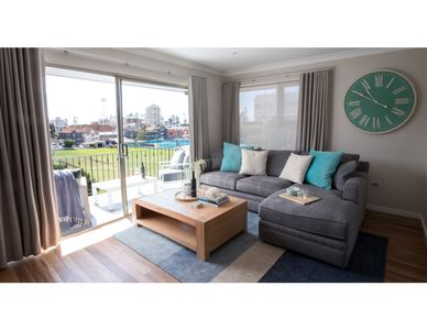 Photo for Sunny unit with unique park view steps from beach