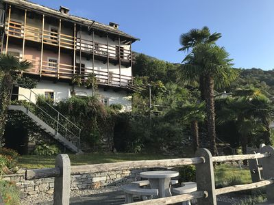 Photo for Romantic Ticino cottage on Lake Maggiore with stunning lake views