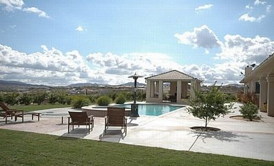 Relax by the pool w  spectacular mtn valley views!