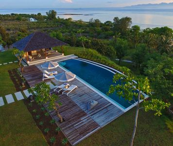 Photo for ABSOLUTE PRIVACY 4 Bdrm LUXURY Villa w own beach, 18m pool 360 degree ocean view