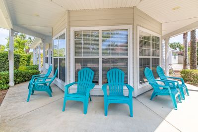 Roomy wraparound porch - Lots of room to relax