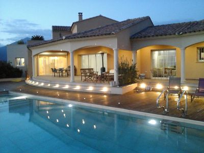 Photo for CORSE.Propriano.SANTA JULIA . Large contemporary villa open on the Gulf of Valinco.5*