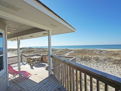 Photo for Beachfront, Pet Friendly! Tranquility Base by Harris Properties. Quiet Seclusion.