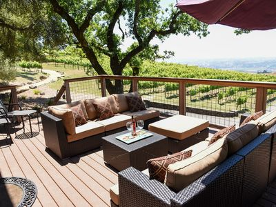 Photo for Spacious Vineyard Retreat for Couples with Amazing Views