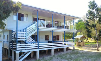 Photo for Fins - Happy Valley, Fraser Island - 5 Bedroom | 4 Bath | 2 Kitchen | Free WiFi