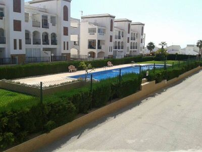 Photo for Family Apartment, La Cinuelica, WIFI, Air-con, Ground Floor, Overlooking Pool