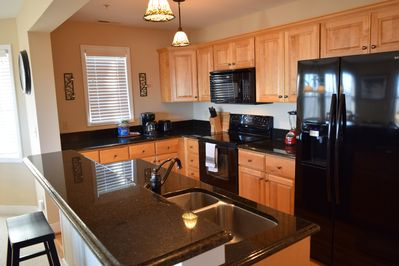 Nice size kitchen for making meals while you are in.