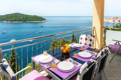 02 Apartment | Balcony overlooking the crystal blue waters of the Adriatic